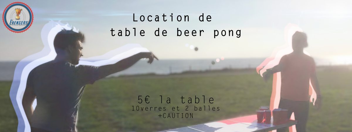 Location des Tables de BeerPong